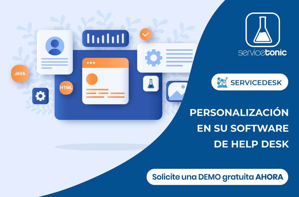 Personalizacion help desk servicetonic