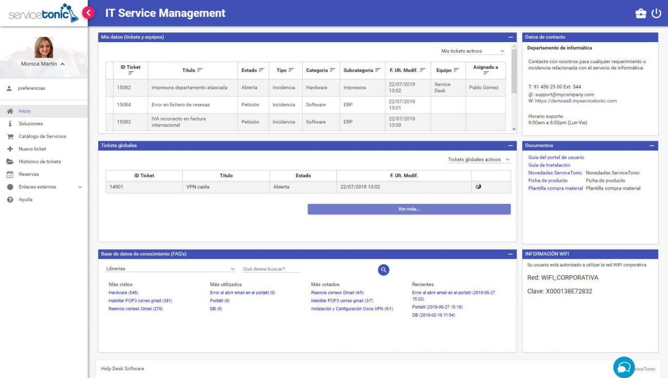 IT Management Software User Portal