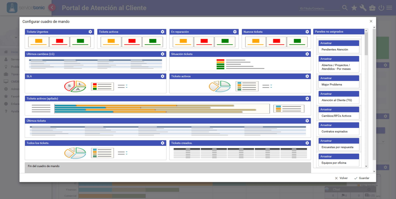 Customer Service Software Control Panel